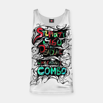 Thumbnail image of Stupidity, Sisu and Deadline Tank Top, Live Heroes
