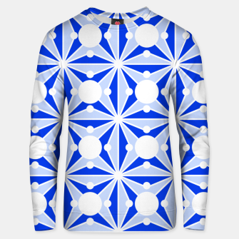 Miniatur Abstract geometric pattern - blue and white. Unisex sweater, Live Heroes