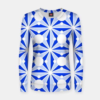 Miniatur Abstract geometric pattern - blue and white. Women sweater, Live Heroes
