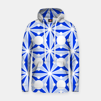 Miniatur Abstract geometric pattern - blue and white. Hoodie, Live Heroes