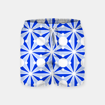 Miniatur Abstract geometric pattern - blue and white. Swim Shorts, Live Heroes