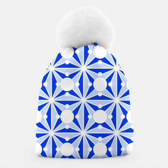 Miniatur Abstract geometric pattern - blue and white. Beanie, Live Heroes