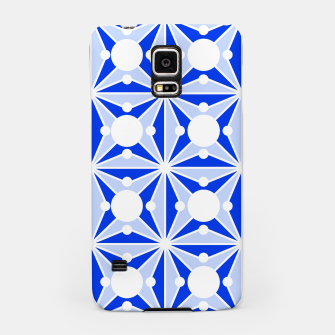 Miniatur Abstract geometric pattern - blue and white. Samsung Case, Live Heroes