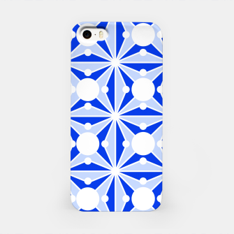 Miniatur Abstract geometric pattern - blue and white. iPhone Case, Live Heroes