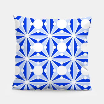 Miniatur Abstract geometric pattern - blue and white. Pillow, Live Heroes