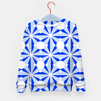 Miniatur Abstract geometric pattern - blue and white. Kid's sweater, Live Heroes
