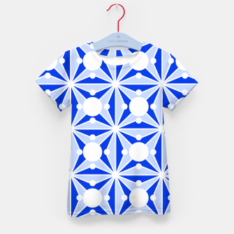 Miniatur Abstract geometric pattern - blue and white. Kid's t-shirt, Live Heroes