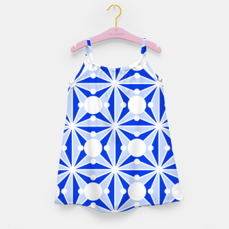 Miniatur Abstract geometric pattern - blue and white. Girl's dress, Live Heroes