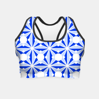 Miniatur Abstract geometric pattern - blue and white. Crop Top, Live Heroes