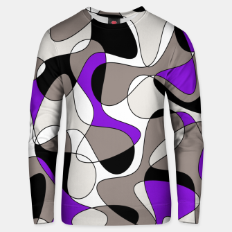 Miniatur Abstract pattern - purple and gray. Unisex sweater, Live Heroes