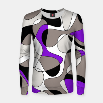 Miniatur Abstract pattern - purple and gray. Women sweater, Live Heroes