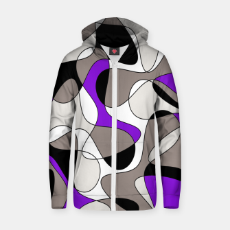 Miniatur Abstract pattern - purple and gray. Zip up hoodie, Live Heroes