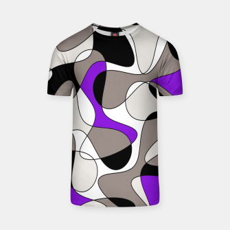 Miniatur Abstract pattern - purple and gray. T-shirt, Live Heroes