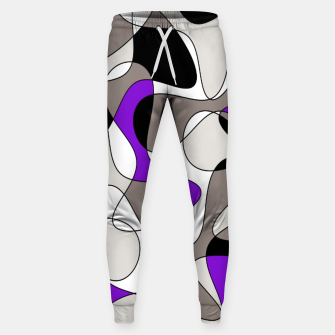 Miniatur Abstract pattern - purple and gray. Sweatpants, Live Heroes
