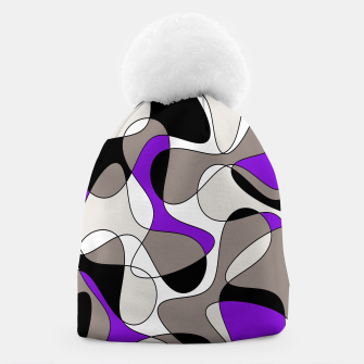 Miniatur Abstract pattern - purple and gray. Beanie, Live Heroes