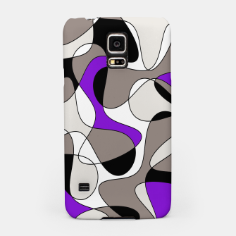 Miniatur Abstract pattern - purple and gray. Samsung Case, Live Heroes