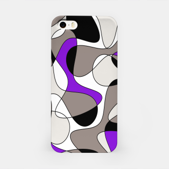 Miniatur Abstract pattern - purple and gray. iPhone Case, Live Heroes