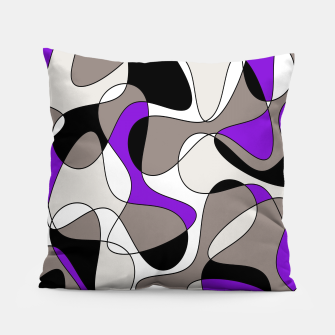 Miniatur Abstract pattern - purple and gray. Pillow, Live Heroes