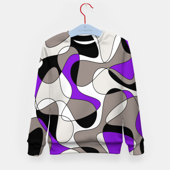 Miniatur Abstract pattern - purple and gray. Kid's sweater, Live Heroes