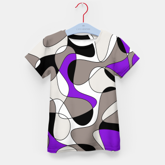 Miniatur Abstract pattern - purple and gray. Kid's t-shirt, Live Heroes