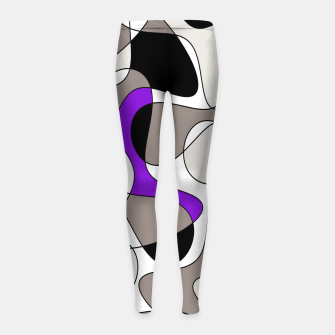 Miniatur Abstract pattern - purple and gray. Girl's leggings, Live Heroes