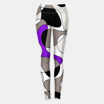 Miniatur Abstract pattern - purple and gray. Leggings, Live Heroes