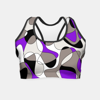 Miniatur Abstract pattern - purple and gray. Crop Top, Live Heroes