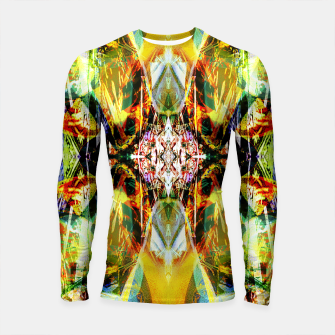 Thumbnail image of Abstraction in hot colors Longsleeve rashguard , Live Heroes