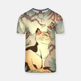 Thumbnail image of Edo Cat Japanese Camiseta, Live Heroes