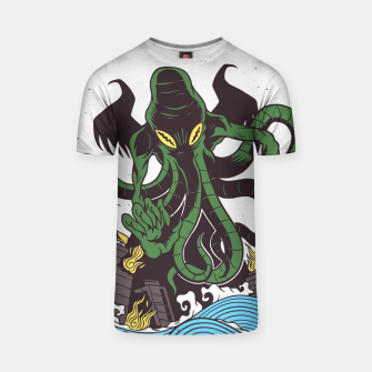 Thumbnail image of Japanese Cthulhu Monster Camiseta, Live Heroes