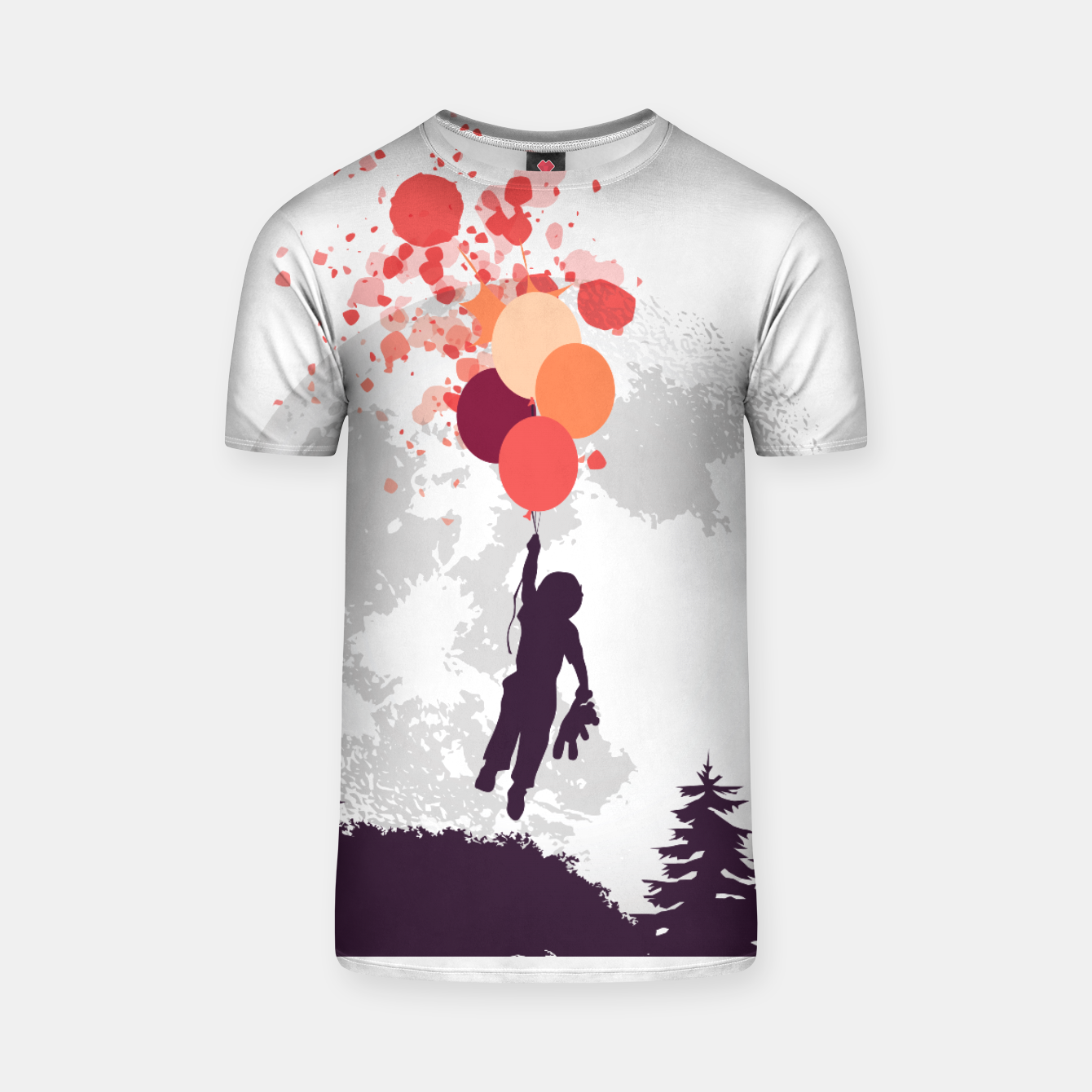 Image of Boy and Teddy Bear Floating Camiseta - Live Heroes