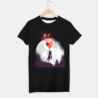 Thumbnail image of Boy and Teddy Bear Floating Camiseta Regular, Live Heroes