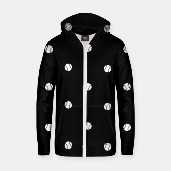 Miniaturka Black and White Baseball Motif Pattern Zip up hoodie, Live Heroes