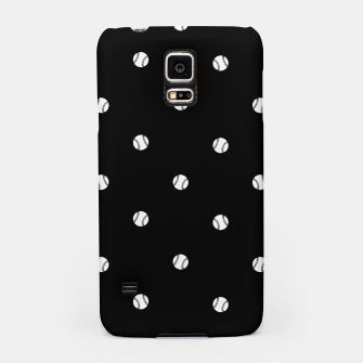 Miniaturka Black and White Baseball Motif Pattern Samsung Case, Live Heroes