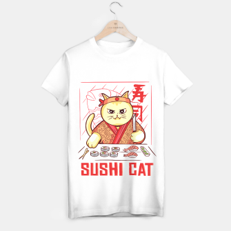Thumbnail image of Sushi Cat Camiseta Regular, Live Heroes