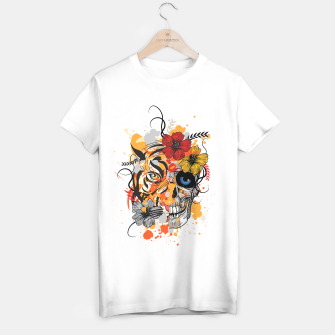 Thumbnail image of Skull Tiger Camiseta Regular, Live Heroes