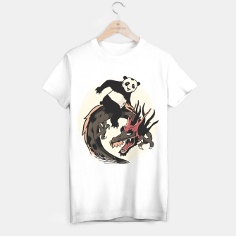 Miniaturka Panda Riding Dragon Camiseta Regular, Live Heroes
