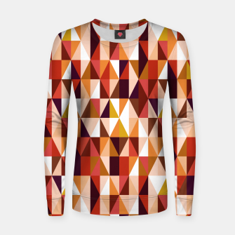 Thumbnail image of Triangles pattern seamless Bluza damska, Live Heroes