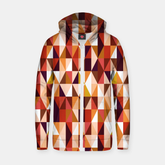 Thumbnail image of Triangles pattern seamless Bluza z zamkiem, Live Heroes