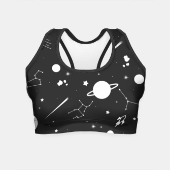 Thumbnail image of Aesthetic space Crop Top, Live Heroes