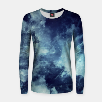 Thumbnail image of Blue aesthetic galaxy Women sweater, Live Heroes