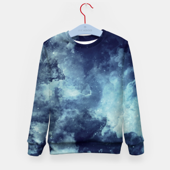 Thumbnail image of Blue aesthetic galaxy Kid's sweater, Live Heroes