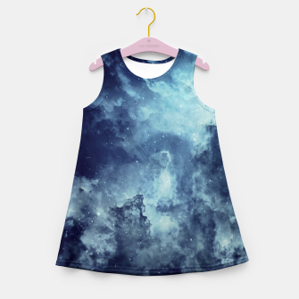 Thumbnail image of Blue aesthetic galaxy Girl's summer dress, Live Heroes
