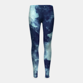 Thumbnail image of Blue aesthetic galaxy Girl's leggings, Live Heroes