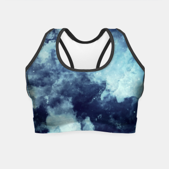 Thumbnail image of Blue aesthetic galaxy Crop Top, Live Heroes