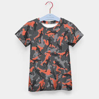 Thumbnail image of Marathon Runner Running Camo URBAN ORANGE Kid's t-shirt, Live Heroes
