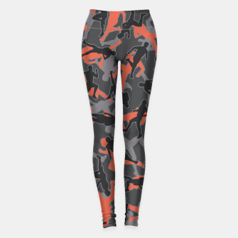 Thumbnail image of Marathon Runner Running Camo URBAN ORANGE Leggings, Live Heroes