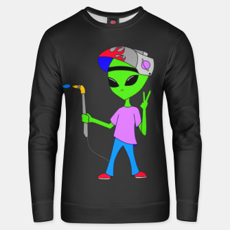 Thumbnail image of Welding Alien Unisex sweater, Live Heroes