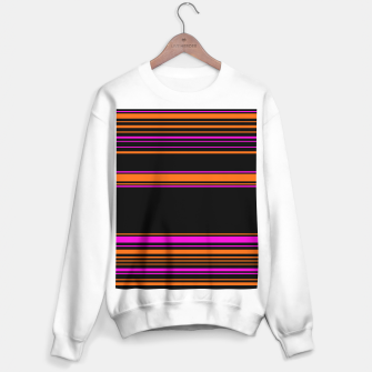 Thumbnail image of Halloween with style - elegant stripes in holiday colors Sweater regular, Live Heroes