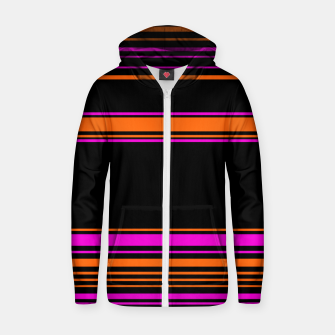 Imagen en miniatura de Halloween with style - elegant stripes in holiday colors Zip up hoodie, Live Heroes